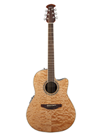 Ovation Celebrity Standard Plus Natural Quilt Maple