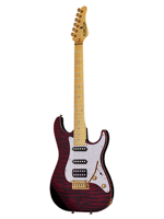 Schecter Sunset Custom Hss Black Cherry Traslucido
