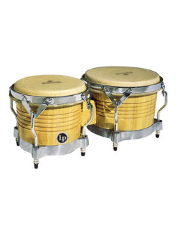 Lp M201-AWC Matador Bongos, Natural/Chrome Hardware