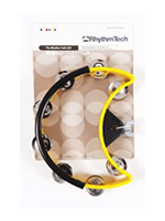 Rhythm Tech DST 50 Drum Set Tambourine-Yellow-Nickel Jingles