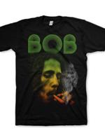 Rock Off BOB MARLEY smoking Da Erb Black Mens M