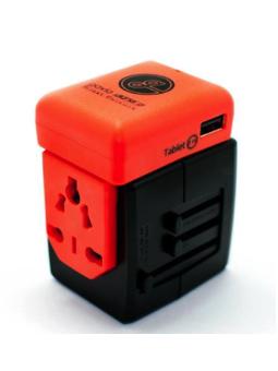 Gavio Jackin Jack Dual USB Traveller Adapter Red