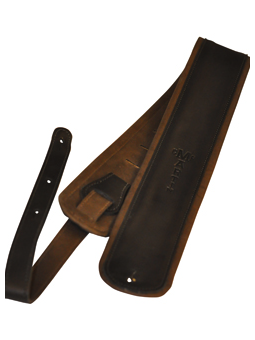 Martin 18A0029 Premium Rolled Leather guitar strap - Black