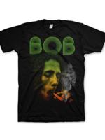 Rock Off BOB MARLEY smoking Da Erb Black Mens XXL