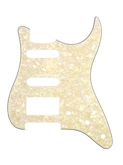 Allparts PG-0995-065 Pickguard for Stratocaster 1H + 2S Parchment Pearloid