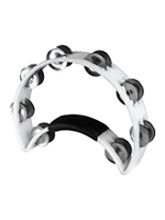 Rhythm Tech RT1020 - White Tambourine, Steel Jingles