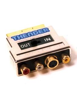 Thender 16-836M Adattatore SCART - RCA - SVideo