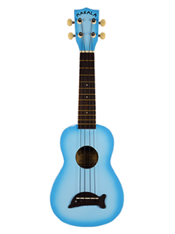 Makala Ukulele Soprano Light Blue Burst Gloss