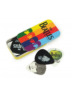 Daddario Beatles Signature Guitar Pick Tins, Stripes, Medium
