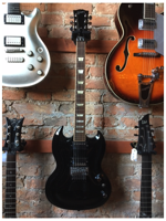 Gibson SG Diablo Black  W/Floyd Rose