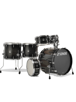 Sonor Limited Edition HYBRID X-Tend 6 Piece Transparent Black Burst