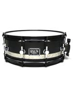 Spaun Drum Co. Standard Maple - 5x14 - Flat Black with Silver Sparkle Stripe